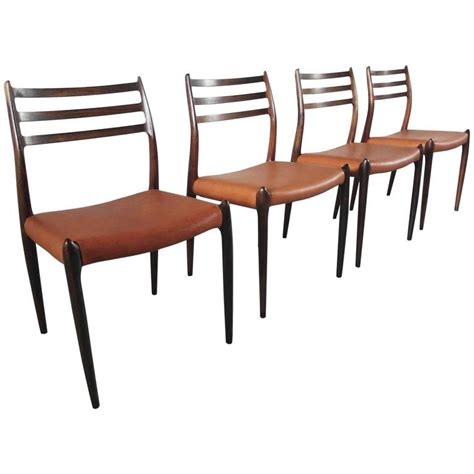 niels otto m 248 ller set of four rosewood model 78 dining