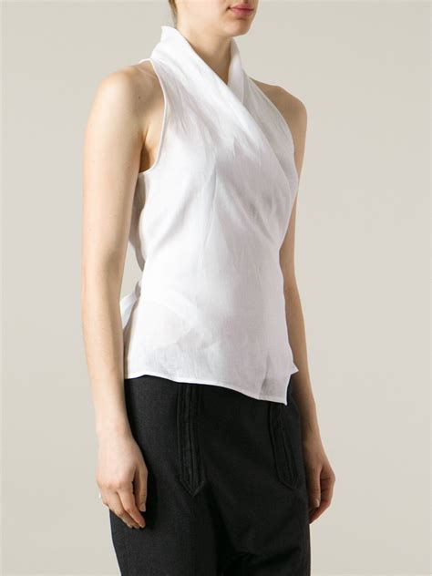 White Wrap Blouse Topshop - Lace Henley Blouse