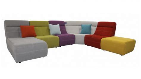 grand canapé d 39 angle multicolore osaka revêtement tissu