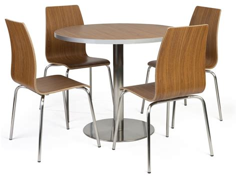 Bistro Style Lunchroom Table And Chairs  5piece Set