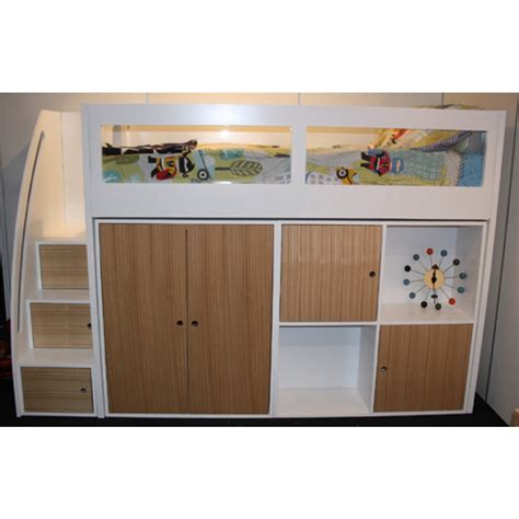 size bed storage buy space saver loft bed frame 1500h in