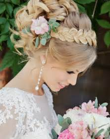 Wedding Updos for Long Hair with Flowers