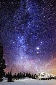 Milky Way Galaxy In The Night Sky