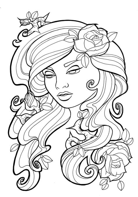 printable tattoo coloring pages  adults coloringstar