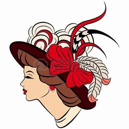 Lady Clipart Cartoon Clip Hat Fashioned Older
