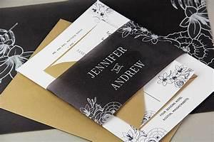 black vellum wedding invitation ideas With wedding invitation vellum bands