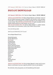2005 Kawasaki Kaf620 Mule 3010 Service Repair Manual