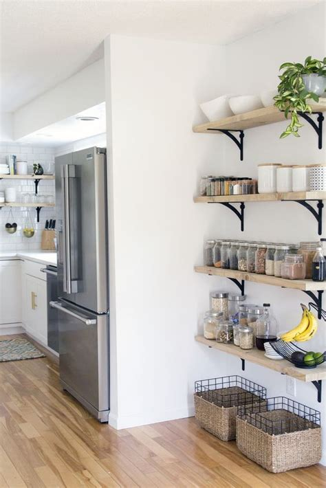 creative kitchen cabinets open shelving in the corner shelving open 3018