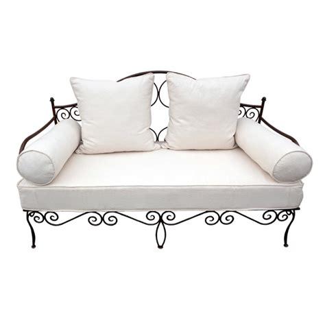 canapé lit en fer forgé boutique matelas fer forge achat canape salon jardin fer forge