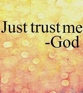 We tend to trust in other people and the promises they ...