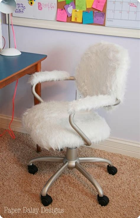 fur desk chair refabbed with fur desk chair makeover