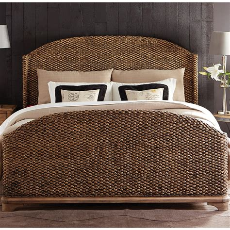 Sherborne Seagrass Woven Bed In Toasted Pecan  Humble Abode