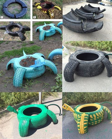 Used Garden Decoration by Beautiful Garden Decoration Ideas With Tires 11