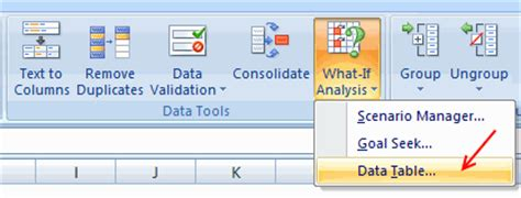 excel what if analysis data table data tables monte carlo simulations in excel a