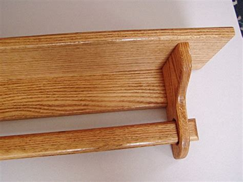 Quilt Holder Rack Wall Mount Shelf 48 Inch Oak Quilt Rack