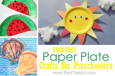 47 summer crafts for preschoolers to make this summer 414 | Summer Paper Plate Crafts For Preschoolers 600x400