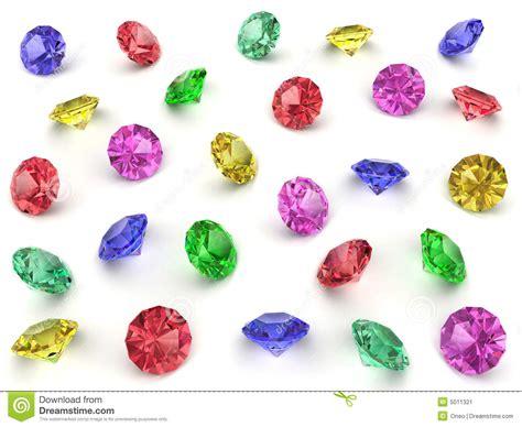 Several Multicoloured Gemstones Stock Image  Image 5011321
