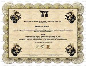 8 best images of martial arts certificate templates With karate certificates templates free