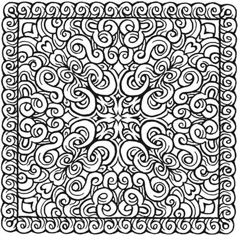 Vierkant Kleurplaat by Mandala Vierkant Kleurplaat Kleurplaten