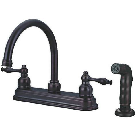 oil rubbed bronze kitchen faucet with sprayer 12 2672 ebay