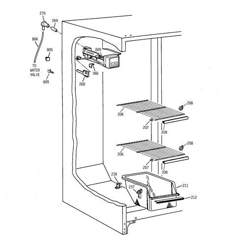 ge tfxgrbbww side  side refrigerator parts sears partsdirect