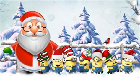 christmas minions winter nature background wallpapers