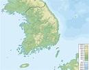 File:South Korea physical map.svg - Wikipedia