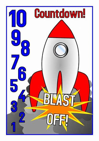 Sparklebox Countdown Rocket Counting Posters Down Backwards