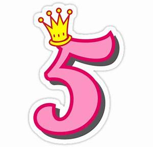 """""""5th birthday princess party theme and gifts"""" Stickers by ..."""
