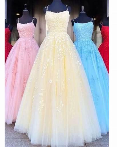 Prom Dresses Fancy Yellow Straps Grils Spaghetti