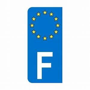 Immatriculation Europe : autocollant gauche pour plaque d 39 immatriculation avec blason europ en et lettre f ~ Gottalentnigeria.com Avis de Voitures