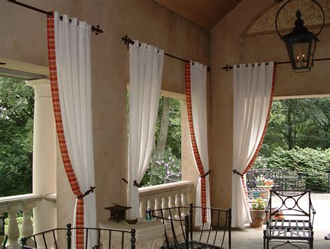 Outdoors Curtains : Decorative Outdoor Curtain Tie