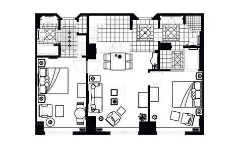 1 bedroom floor plans grand vacations resort on the boulevard in las vegas nevada