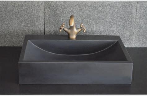 vasque cuisine vasque en pegasus black 60x40 basalte