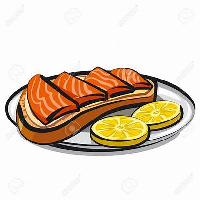 Salmon Sandwich Clipart Vector Fish Smoked Olives
