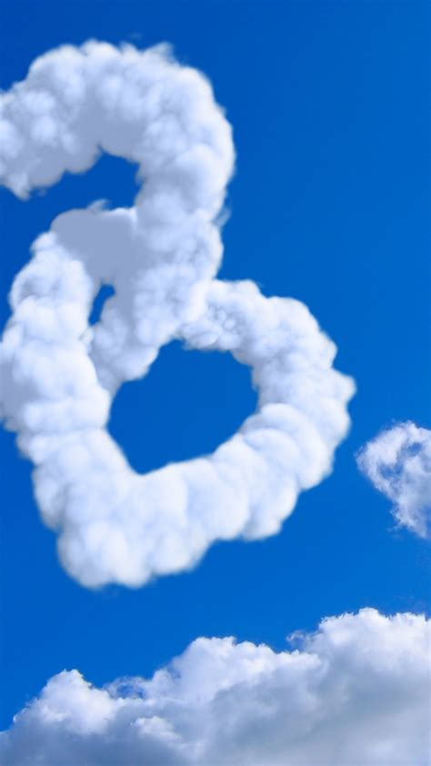 wallpaper heart   wallpaper  cloud blue sky