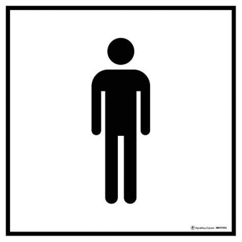 panneau information toilettes hommes