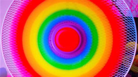 rainbow fan   fan colorful diy