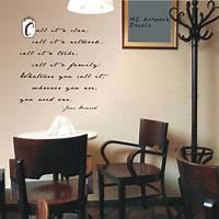 interesting quotes wall decals Wall FAMOUS QUOTES INSPIRATIONAL Phrases Decals Sayings ...