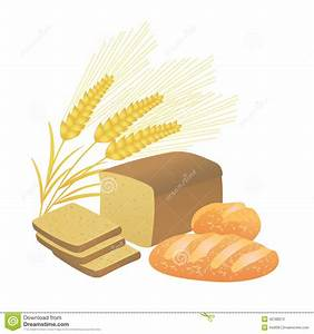 Bread And Wheat Spikelets, Illustration Stock Vector ...