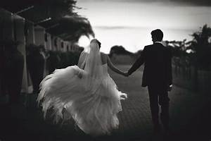 beautiful black and white photo of the happy couple ...
