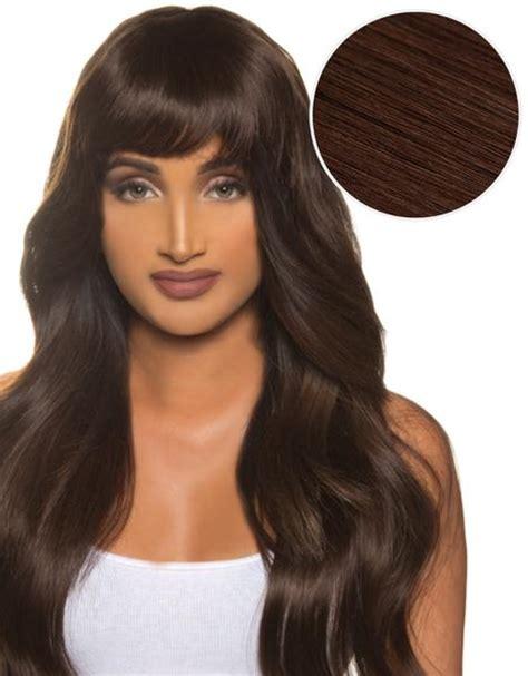 cleopatra clip  bangs dark brown  bellami bellami
