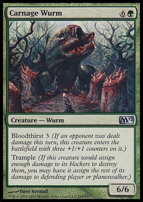 Mtg Wurm Deck by Carnage Wurm M12 Mtg Card
