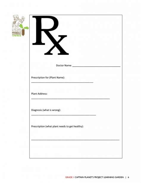 prescription template 32 real prescription templates printable templates