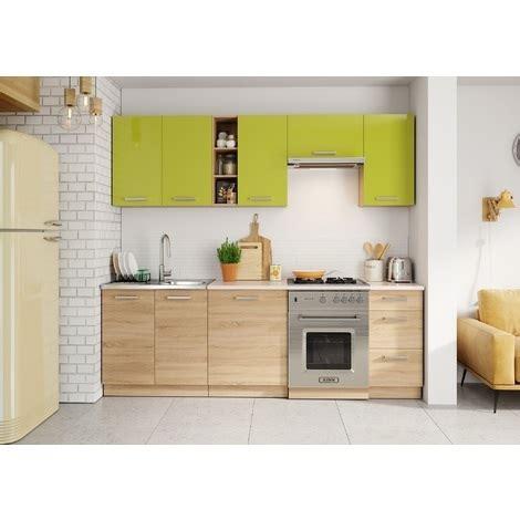meuble cuisine complet meubles cuisine complète lena bois vert 2m40 8 meubles
