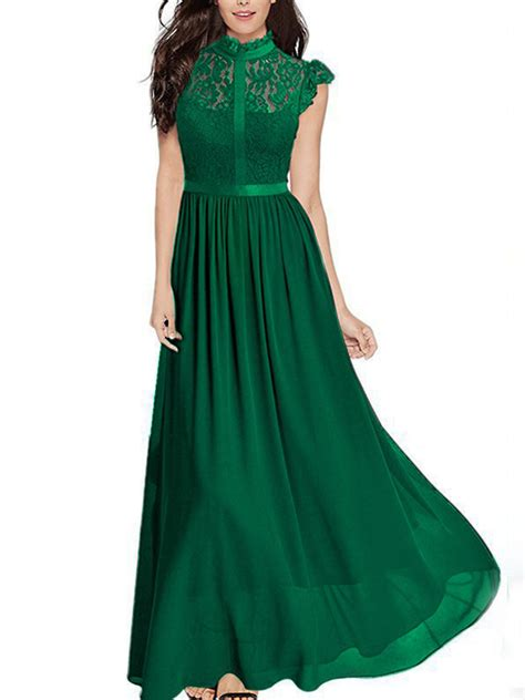 green patchwork lace zipper draped elegant cocktail party