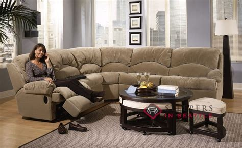 Sectional Sofas With Recliners And Sleeper by Customize And Personalize Milan True Sectional Fabric Sofa