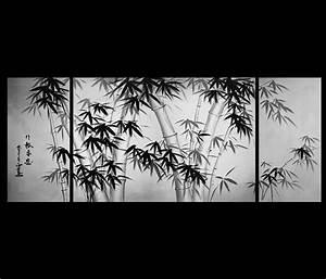 Canvas Art Framed Bamboo Abstract Art Canvas Prints