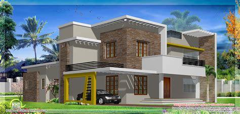 modern flat roof house design kerala home