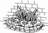 Flowerbed Coloring sketch template